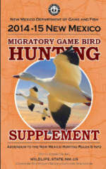 new mexico 2014-15 hunting migratory game bird supplement