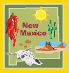 New Mexico State shape and symbols