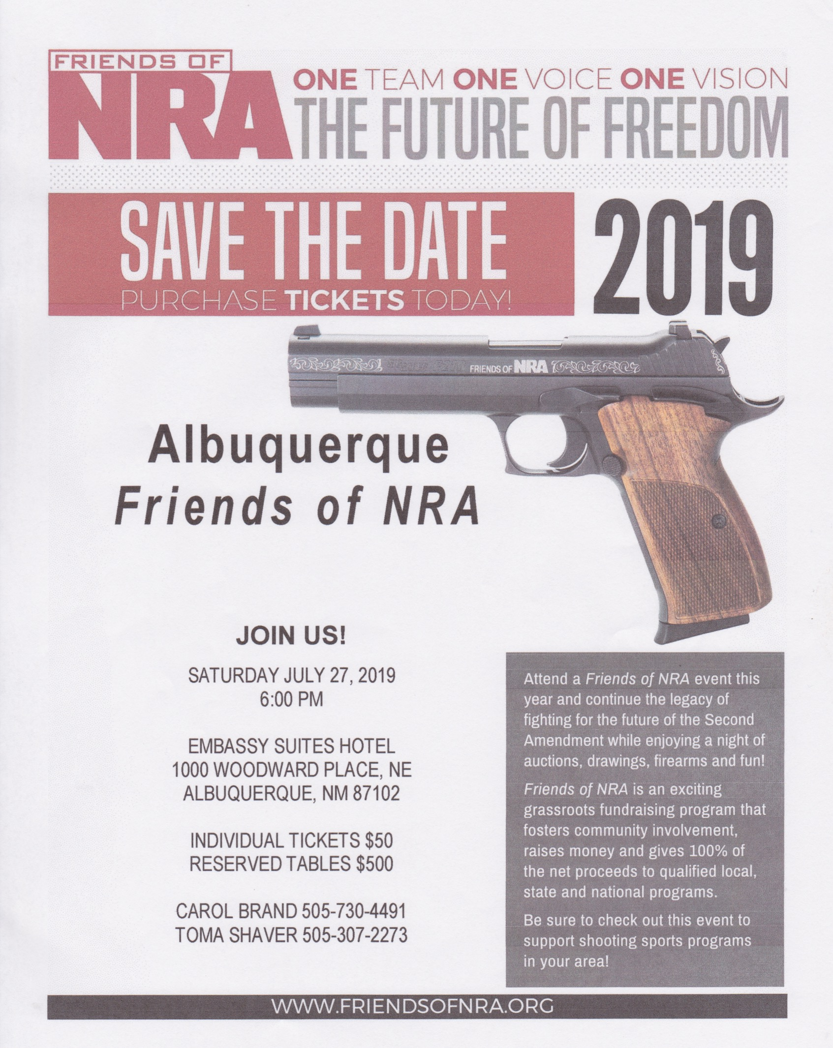 Albuquerque Friends of NRA @ Embassy Suites Hotel | Albuquerque | New Mexico | United States
