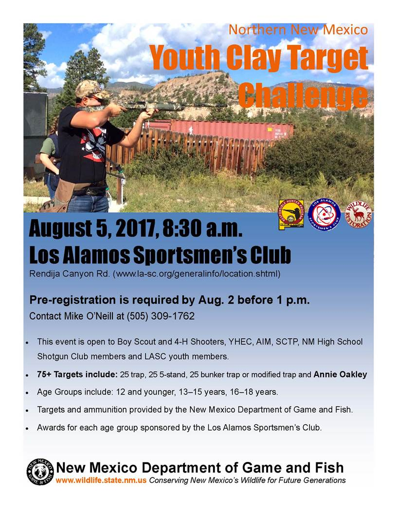 Northern New Mexico Youth Clay Target Challenge @ Los Alamos Sportsmen's Club | New Mexico | United States